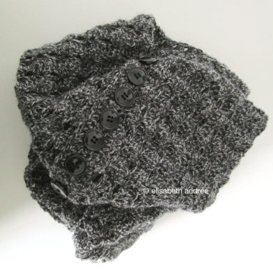 crochet charcoal cowl by elisabeth andrée