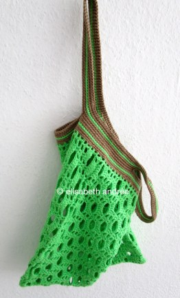 poison green cotton bag by elisabeth andrée