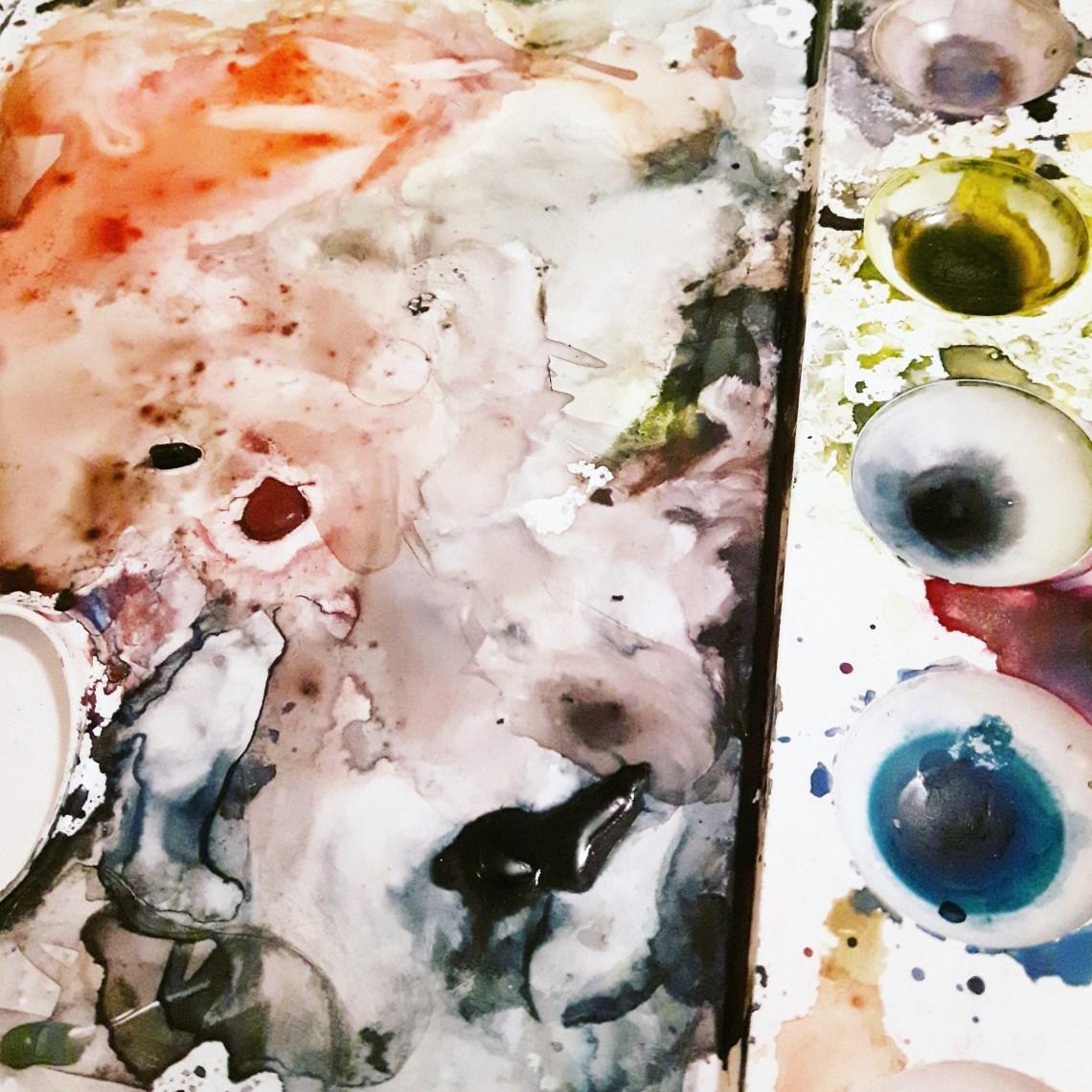 Akvarellpalett