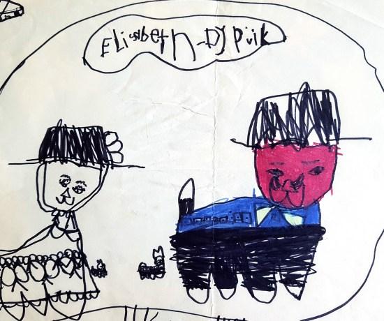 Barnteckning av Elisabeth Biström