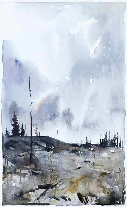Akvarell av Elisabeth Biström 2020