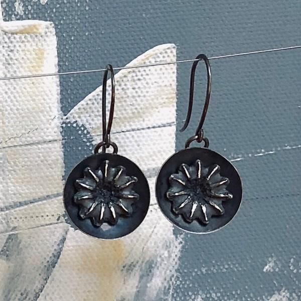 Earrings Abstract Flower