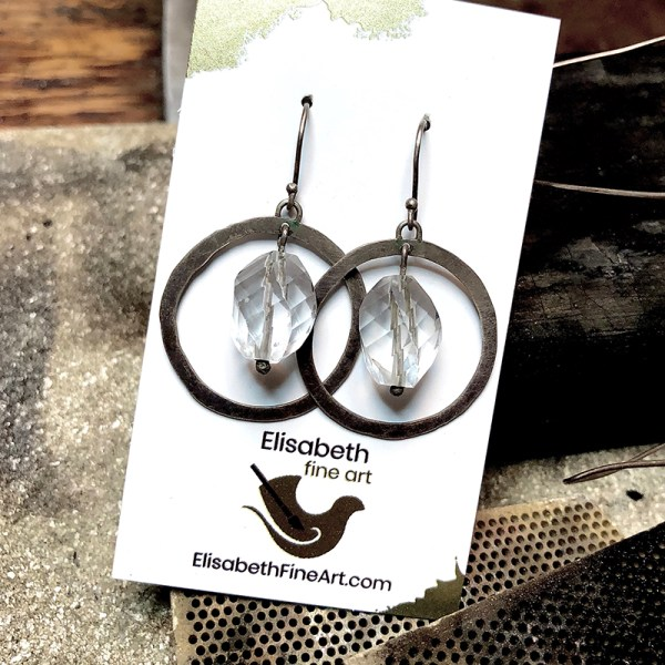 Earrings Spiral And Circle