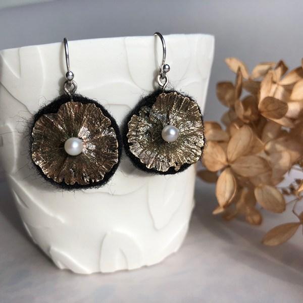 Earrings Bronze Flowers