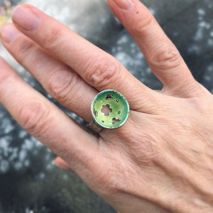 Green Enamel Ring