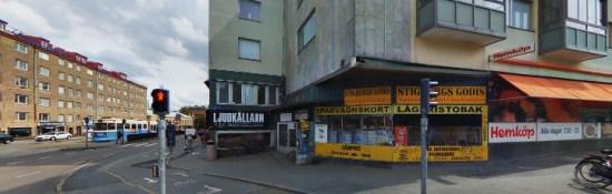 Det var vid Stigbergstorget i Majorna i Göteborg som en ensam man blev misshandlad av tre andra män på lördagskvällen. Bild: hitta.se