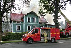 Förskolan Urd i Falköping brinner ner till grunden Foto: Commons.Widimedia.org.
