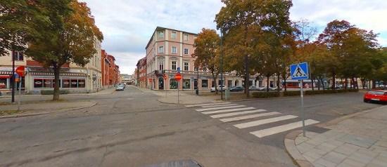 Det var här på Norra Kopparslagargatan i Gävle som bråk utbröt mellan flera män natten till den 23 september. Bild: kartor.eniro.se