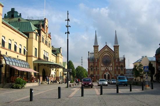 Det var här i centrala Gävle som en 24-årig man blev utsatt för mordförsök genom knivskärning. Foto: mapio.net
