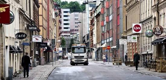 Ett mordförsök inträffar utanför en restaurang här på Andra Långgatan i Göteborg och en 45-årig man skadas svårt. Bild: Nöjesguiden