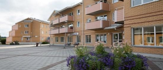 Det var här på Morö Backe i Skellefteå som en 20-årig man mördades i samband med en knarkuppgörelse. Foto: skebo.se