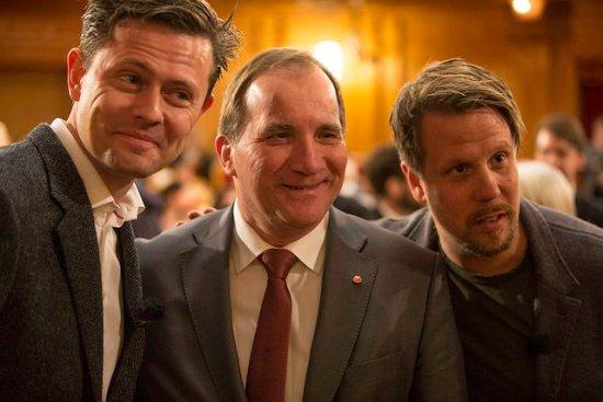 Statsminister Stefan Löfven är glad Copyright: Flickr.com/photos