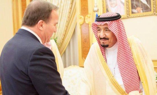 Stefan Löfven och kung Salman av Saudiarabien