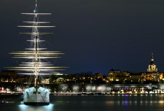 Stockholm på natten Copyright: Irakite/Dreamstime.com