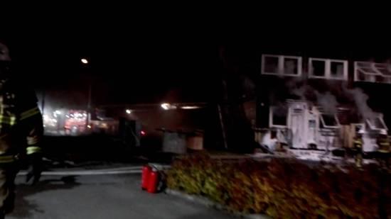 Asylboendet i Fagersjö utsattes för mordbrand. Bild: youtube.com
