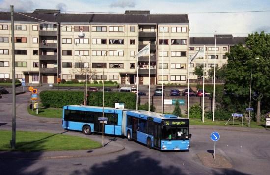 Stadsdelen Bergsjön i östra Göteborg där en man blev knivskuren Bild: en.wikipedia.org