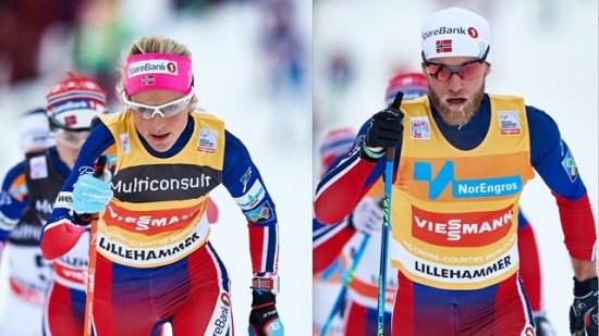 Therese Johaug och Martin Johnsrud Sundby Foto: Internationella skidförbundet FIS