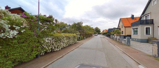 Det var i en villa här på Rungatan i Malmö som en fest spårade ur och en kvinna blev grovt misshandlad. foto: kartor.eniro.se