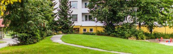 Här i stadsdelen Årby i Eskilstuna ägde en skottlossning rum för bara några dagar sedan. Foto: polisen.se