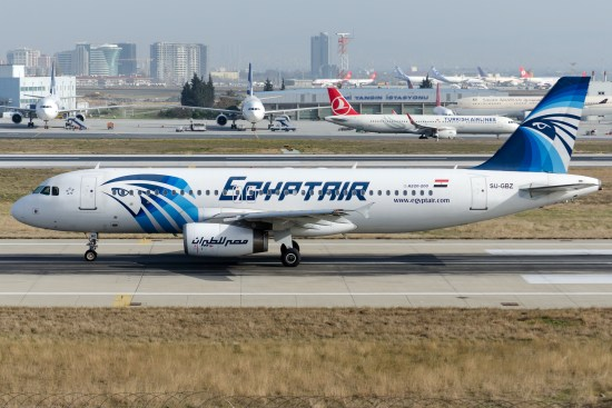 En Airbus 320 från EgyptAir Copyright: Andreevaee/Dreamstime.com