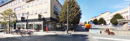 Det var här vid Stortorget i Borås som en man blev misshandlad. Bild: hitta.se