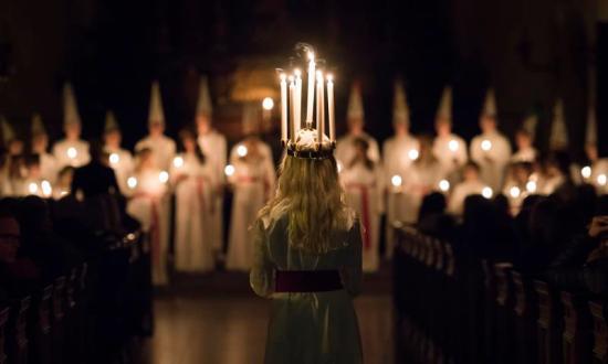 En svensk lucia Bild: Svenska Kyrkan