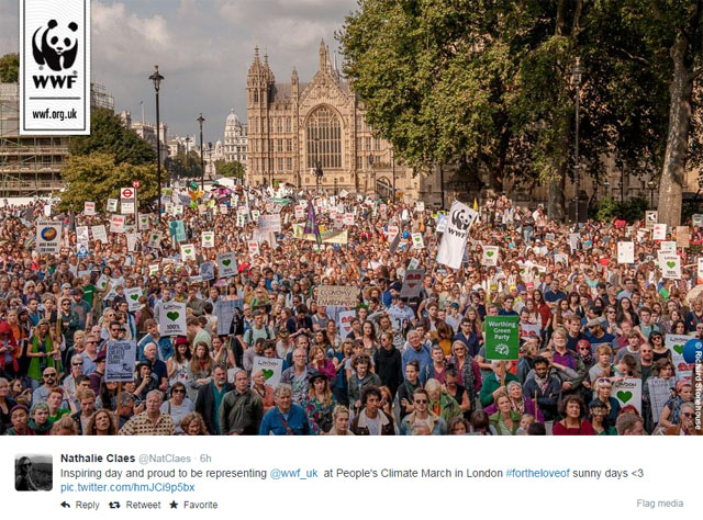 Photo People's Climate March: London.