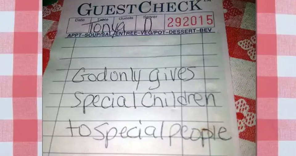 Note: God only gives special children to special people.