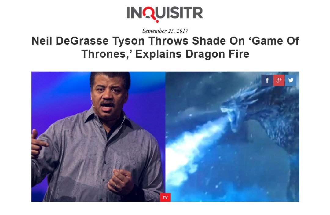 Neil DeGrasse Tyson GOT