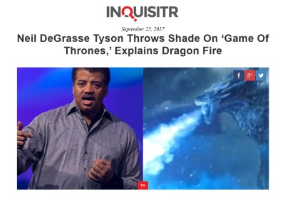 Neil DeGrasse Tyson GOT