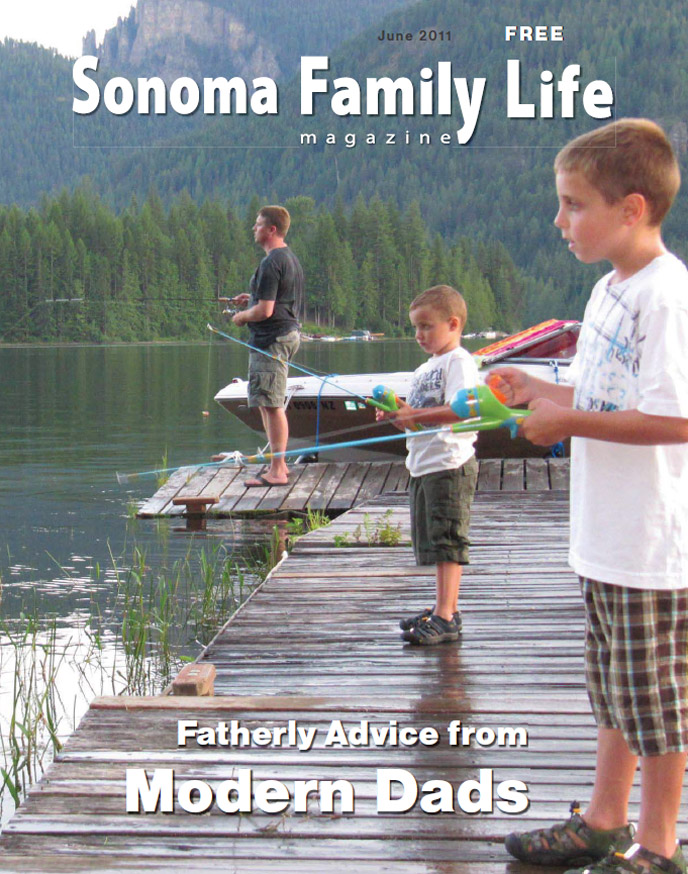 Sonoma Family Life Magazine cover, Calendar Editor, Elisabeth Parker Writing Samples, June 2011.