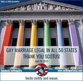 2015 06 26 Coffee Party - SCOTUS Ruling - Gay Marriage Legal in All 50 States