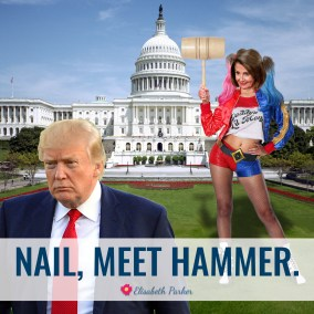 2019.01.25 - Nail Meet Hammer - Nancy Pelosi as Harley Quinn