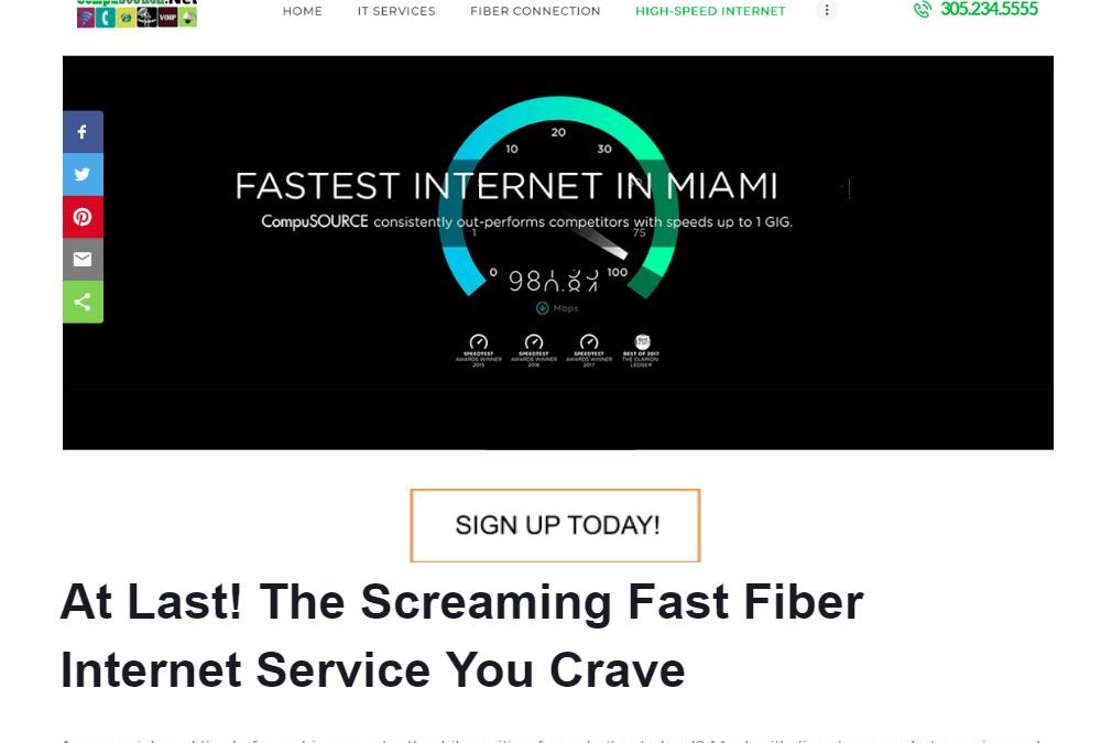 Fiber Internet Service (Landing Page)