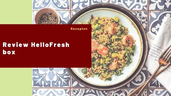 Review HelloFresh box
