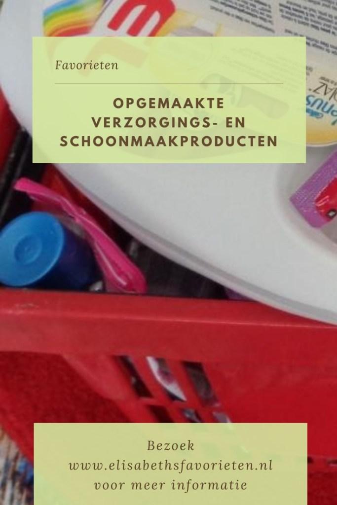 Opgemaakte verzorgings- en schoonmaakproducten