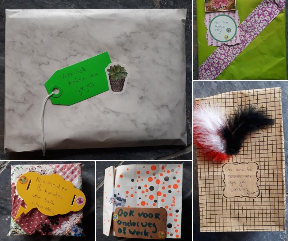 EPIC6 gemaakte cadeautjes met labels