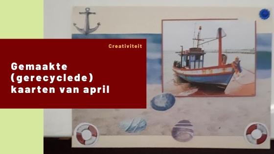 Gemaakte (gerecyclede) kaarten van april