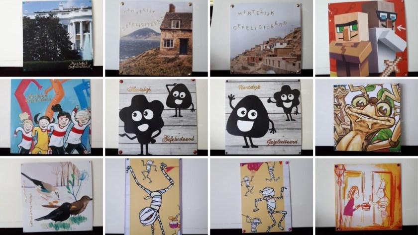gemaakte gerecyclede kaarten april