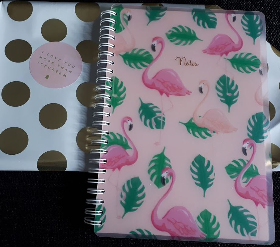 roze flamingo notitieboek