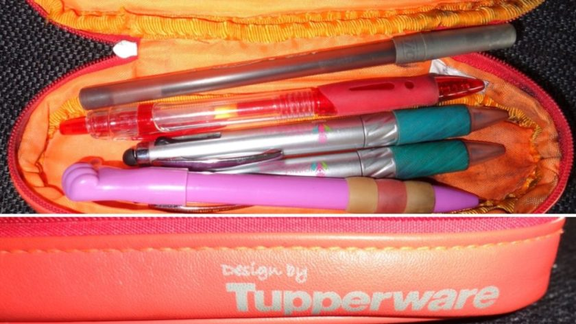 tupperware pen etui