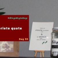 Mijn favoriete quote - Blog challenge #30