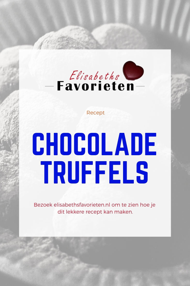 chocoladetruffels pinterest