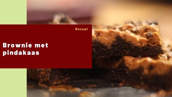 brownie met pindakaas