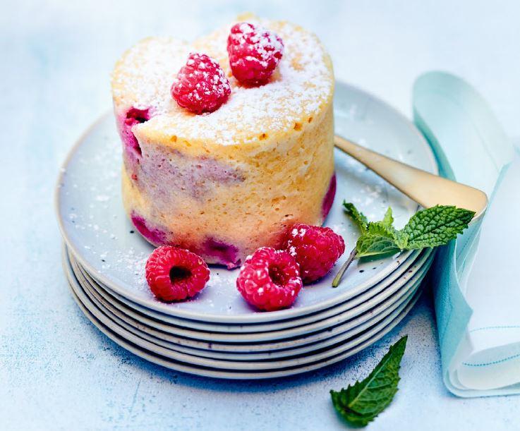 framboos en amandel mug cake