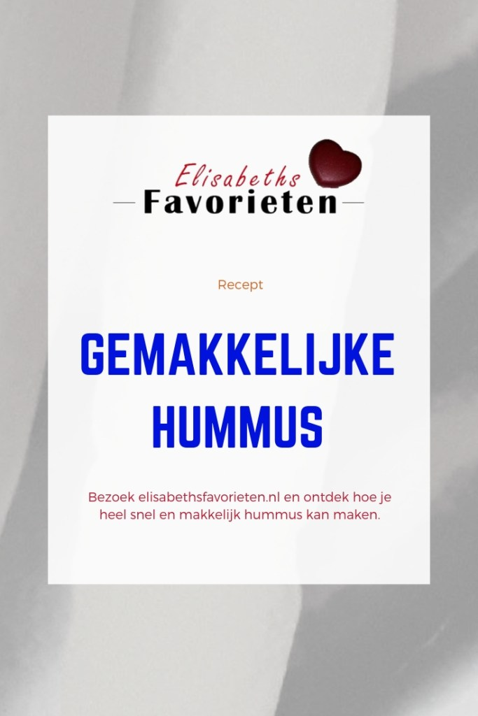 gemakkelijke hummus