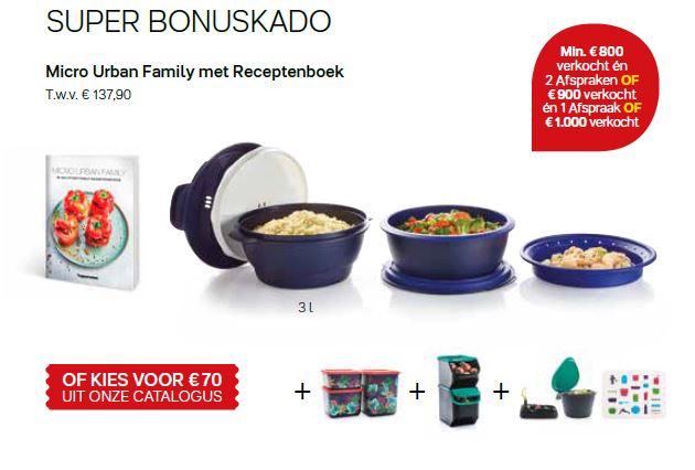 super bonuscadeau - micro urban family met receptenboek