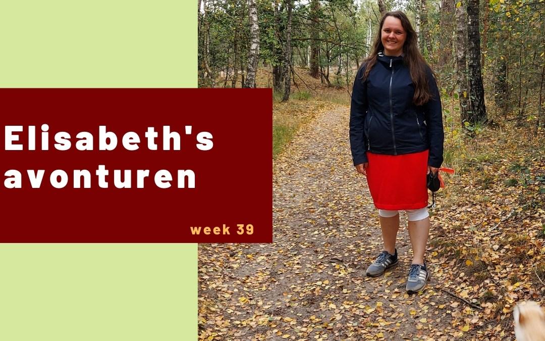 Elisabeth's avonturen week 39 - 2020