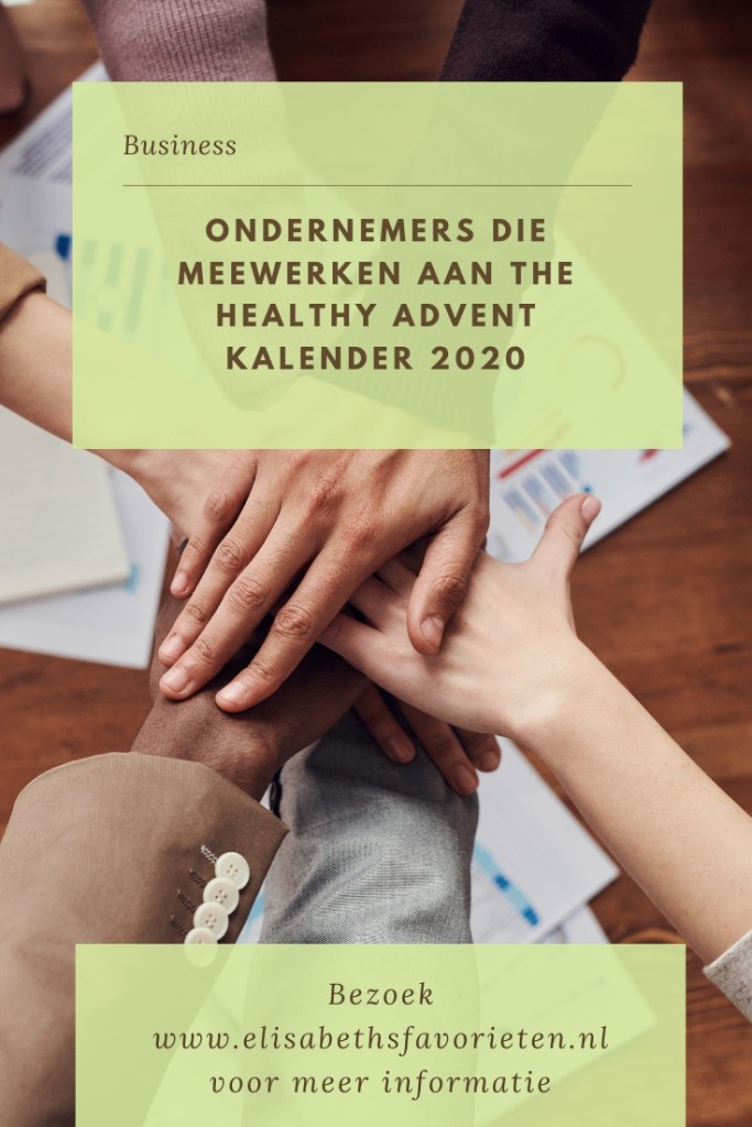 Ondernemers die meewerken aan The healthy advent kalender 2020