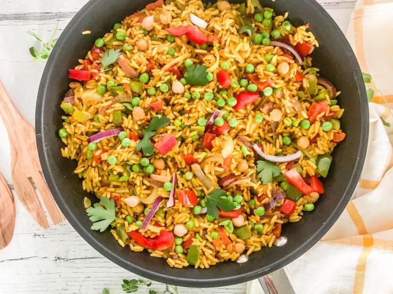 Schnelle Reispfanne